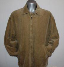 Vtg Mens GANT USA Jacket coat Cordoruy Cotton WOOL Tartan interior Brown Sz XL