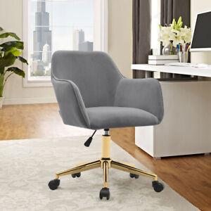Adjustable Velvet Office Swivel Chair Ergonomic Armchair Computer Desk Seat Home