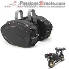Borse valigie laterali morbide GIVI ea100b Saddle bagsbike 40LT honda hornet
