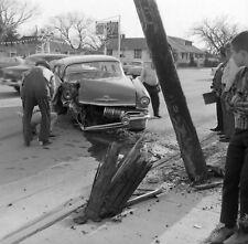 8x10 Print Wrecked Auto Car 1940's #559875