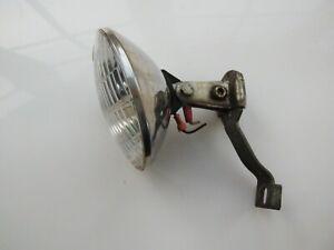 Vintage dynamo front halogen light and bracket