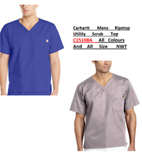 Carhartt Mens Scrubs Ripstop Utility Top C15108A All Colours And Sizes Nwt