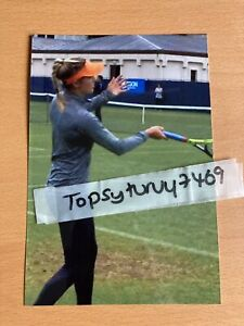 EUGENIE BOUCHARD GENIE TENNIS PHOTO WIMBLEDON 6X4 INCH