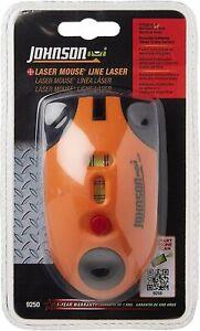 Johnson Level & Tool Model 9250 Laser Line Level (Mouse), 30 feet - Orange