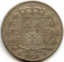 Charles X (1824-1830) 5 Francs 2e Type 1828 A Paris