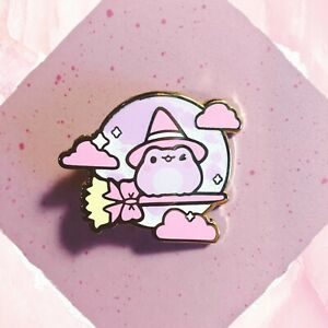 Witch Frog Enamel Pin Limited Edition; Patreon Exclusive, cute, Blushsprout