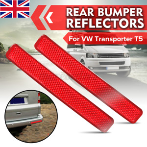 2x Rear Bumper Reflector Lens Assembly L+ R Light For VW Transporter T5  -