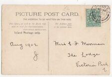 Miss E F Moorman The Lodge Victoria Park E London 1904 256a