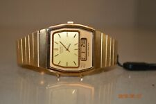 Vintage Gold Tone Seiko H601-5400 Alarm Chronograph Ana-Digi Men's Watch NEW!!!