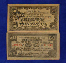 FILIPPINE Commonwealth of the Philippines 50 Centavos 1942 SERIES variant #B1278