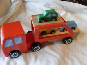 John Lewis Wooden Car Transporter With 3 Cars