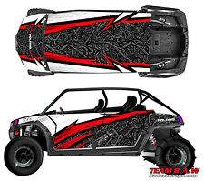 Polaris 4 RZR 900 xp Design MXVEC 009 Decal Graphic Kit Wraps Hood Scoop