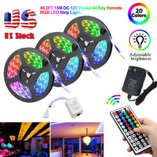32ft 49ft RGB Flexible 600 LED luz de tira 3528 SMD Luces de Hadas Sala Tv Fiesta