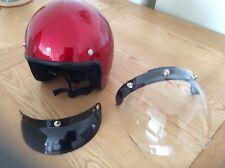 Scooter, moto casco Media Cara con pantalla y Beck. Nueva.