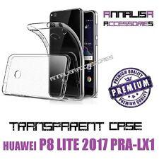 COVER TRASPARENTE PER HUAWEI P8 LITE 2017 PRA-LX1 CUSTODIA CASE SILICONE TPU
