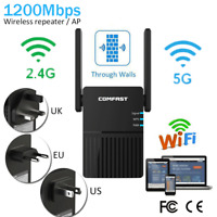 5G1200Mbps WiFi Range Extender Repeater Wireless Amplifier Router Signal Booster
