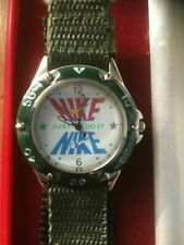 Nike Just Do It Nylon Fasten Wristwatch Battery Operated