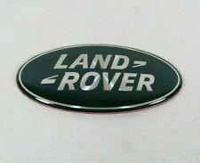 LAND ROVER GRILLE EMBLEM GREEN/SILVER FRONT GRILL OVAL BADGE sign symbol logo