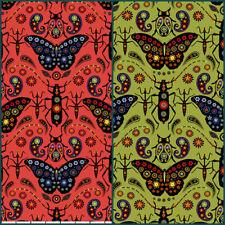 Land Art Odile Bailloeul Free Spirit Cotton Quilt Fabric PWOB020 Butterfly Bugs