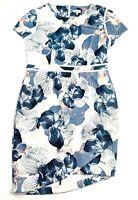 Tokito Women's Size 16 Multicoloured Midi Length Short Sleeve Lined Pencil Dress