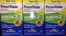 3 Bausch+Lomb PreserVision AREDS2 Eye Vitamin & Mineral Support 420ct Exp/2022.