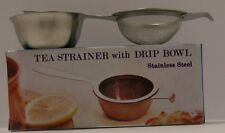 Tea Strainer Single handle with bowl s/s  Guaranteed Quality