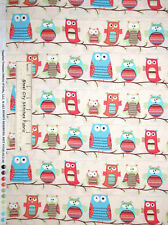 Owl Fabric 100% Cotton By The Yard Timeless Treasures Owl Tree Branch Organic