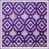 BonEful Fabric FQ Cotton Quilt VTG Purple Light Dark Flower Mod GIRL Tile Damask