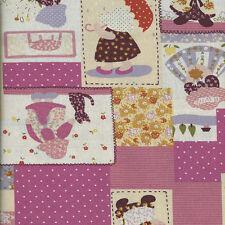 Cuarto gordo sunbonnet Sue Ropa De Mira De Algodón Acolchado fabric-50 X 55cm-pink