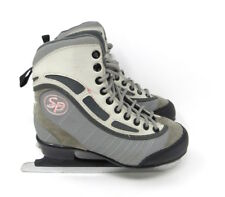 SP CCM Girls Pink & Gray Ice Skates Skating Boots Size 2