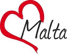 "Auto Aufkleber "" MALTA "" Sticker Malta ca.9x11cm konturgeschnitten"