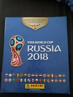 Panin FIFA WORLD CUP RUSSIA 2018 sticker Album Unused With 6 Stickers