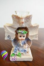 Angel Cross candle Favors Boy/ Figura de Angel Para Bautizo o Comunion con vela