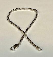 "14k Solid White Gold Anchor Mariner Link Chain bracelet 3.1 MM  10 grams  8"""