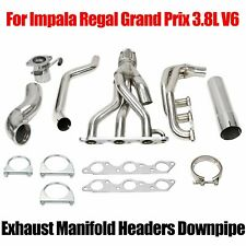 FOR GRAND PRIX/GTP/REGAL/IMPALA 3.8L V6 STAINLESS RACING MANIFOLD HEADER/EXHAUST