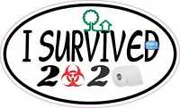 I SURVIVED 2020 PANDEMIC//OUTBREAK 19 FUNNY//DECAL//STICKER//CAR//VAN//WINDOW