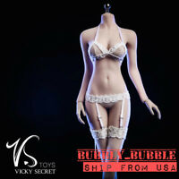 """1/6 Lace Lingeries Bra Underwear Stockings Set For 12"""" Hot Toy PHICEN Figure USA"""
