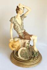Vintage Giuseppe Armani Country Boy Capodimonte Florence Harvest Figurine