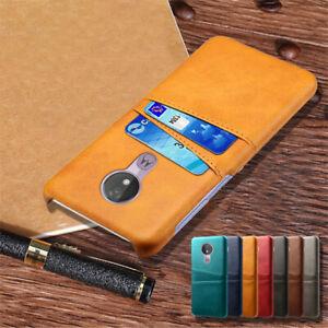 For Motorola Moto G4 G5 G5S G6 Plus Wallet Card Pocket Holder Case Leather Cover