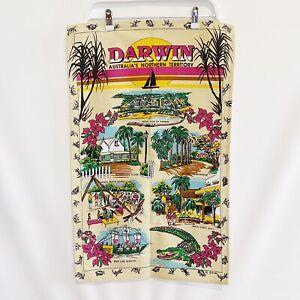 Darwin Northern Territory Australia Souvenir Vintage 90's Tea Towel