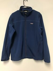 Patagonia Adze Wind Waterproof Softshell Fleece Lined Insulated Jacket Blue M