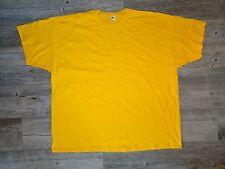New Men's Fruit of the Loom Crew Neck T-Shirt - Gold -  4XL, 5XL & 6XL
