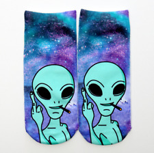 New Casual Ankle Socks 1Pair Fashion Cool aliens print Cotton Blend 202