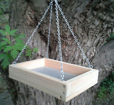 Small Cedar Platform Screen Bird Feeder, w/Chains