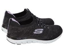 Ladies Skechers Flex Appeal 2.0 Black Womens Lightweight Memory Foam Shoes 5.5