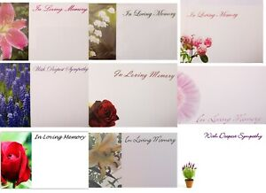 IN LOVING MEMORY/SYMPATHY FLORIST FLOWERS MESSAGE FUNERAL CARDS small and large