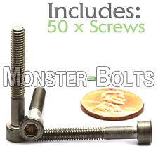 M4 x 30mm - Qty 50 - DIN 912 SOCKET HEAD Cap Screws - Stainless Steel A2 / 18-8