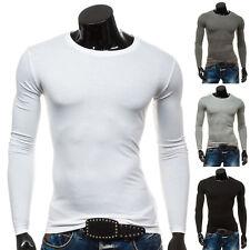 BOLF Herren Longsleeve Langarmshirt Sweatshirt Pullover Lang Pulli 1A1 Unifarben