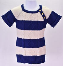 Baby Girl's Nautica NAG0107Q Striped Cable Knit Dress  Beige