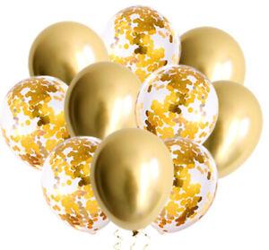12inch Latex Metallic Balloon Confetti Filled Birthday Party Decoration